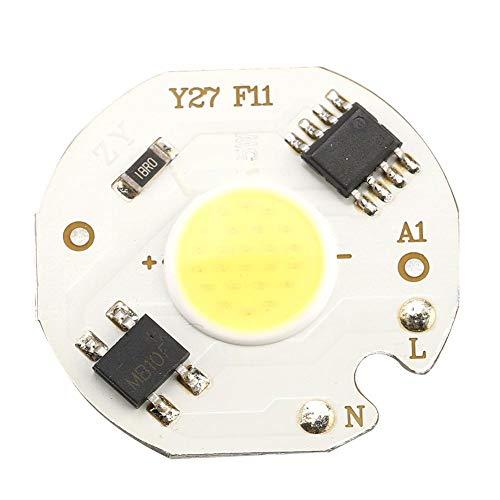 Boquite 10PCS 5W LED-Chip, hochheller integrierter Chip Lichtquelle COB Bead Spotlight Bulb Energiesparchip, 1200LM, einfache Installation(Weiß)