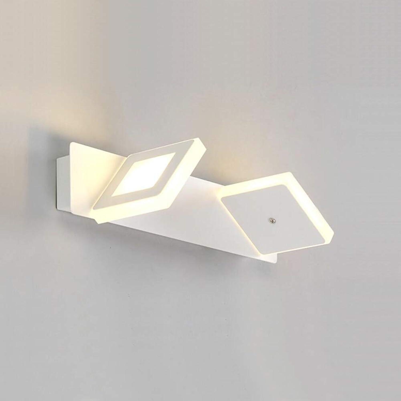 Topdeng Modern Led Spiegel-leuchte, Hardwirot Wasserdicht Anti-nebel Wandleuchten Garderobe Schminktisch Badezimmer Wandbeleuchtung TriFarbe-B Doppelter Kopf 32cm-6W