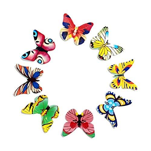 YeahiBaby Essbares Reispapier Schmetterlinge Oblatenpapier Kuchen Dekoration 120 Stück
