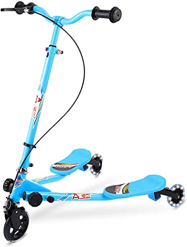 AODI Y Scooter for Kids, 3 Wheels Scooters Foldable Tri Slider Foldable Push Drifting with Adjustable Handle & 2 Rear LED Wheels for Boys and Girls Ages 3-8 (Multiple Colors)