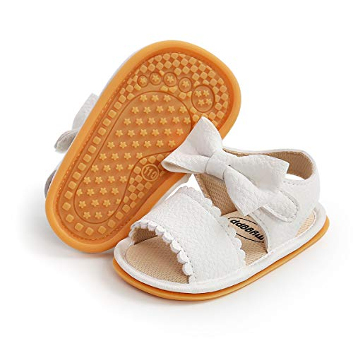 Sawimlgy Infant Baby Girl Boy Casual Sandals Premium Princess Flats Summer Outdoor Beach Athletic Shoes Breathable Soft Anti Slip Rubber Sole Newborn Toddler Prewalker First Walking Shoes