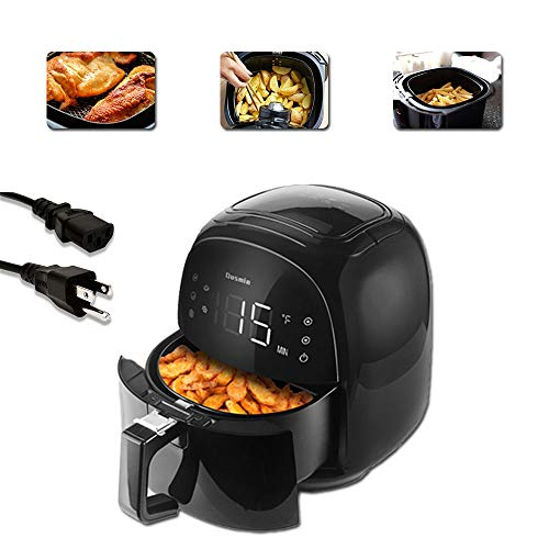 Air Fryer 5.8 Quart 1700W, Hot Air Fryer with 8 Programs, Touch Display, Without Oil Air Fryer Multi Function Hot Air Fryer with Recipe Book