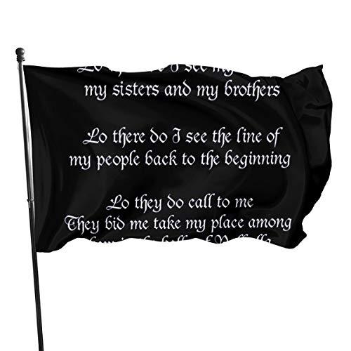 N/A USA Guard Flag Banner Welcome Flags Blut Wikinger Gebet Schwarz Hof für Urlaub Terrasse Jahrestag Dekoration 91 x 152 cm