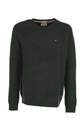 Hilfiger Denim Gabriel CN Sweater l/s Pull, Vert-Grün (Eden-PT 917), Large Homme