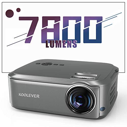 Heimkino-Beamer 80,000 Stunden 1080P Full HD, 7800 Lumen LCD LED Video Projektor für Film Unterhaltung Spiele Reisen, unterstützt HDMI VGA AV USB Micro SD