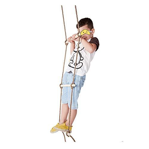 MALY Strickleiter, Holztrapez mit 5 Sprossen für Kinder Klettergerüst/Baumhaus Holzleiter Schaukelsitz Outdoor Gartenspielzeug für Kinder