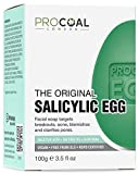 Salicylic Egg Facial Cleansing Soap 100g by Procoal - Salicylic Acid Cleanser For Combination, Oily, Blemish Prone Complexion, Vegan & Cruelty-free