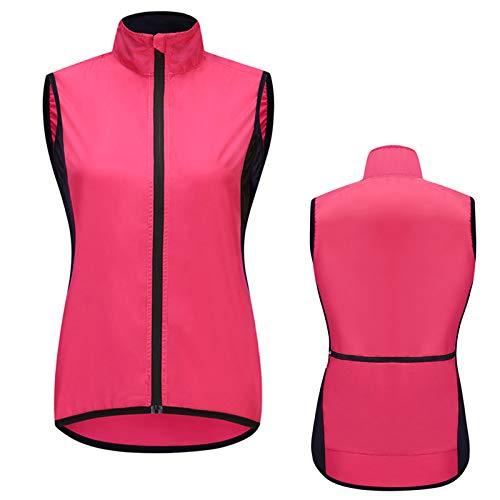 Mujer Impermeable Chaleco Ciclismo,Transpirable Alta Visivilidad Vest MTB Chaleco Ciclismo Sportful,Adecuado para Correr,Andar En Bicicleta,Motocicleta Chaleco Bici(Size:Metro,Color:Rojo)