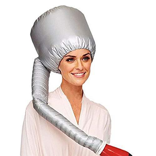 offershop Casque Sèche Cheveux Sèche-cheveux Gonflable Portable Thermique Attaque Universelle (Argent)