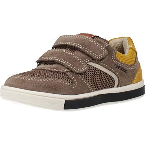 Geox B TROTTOLA Boy A, Sneakers Basses, Gris (Smoke Grey/DK Yellow C1x2g), 20 EU
