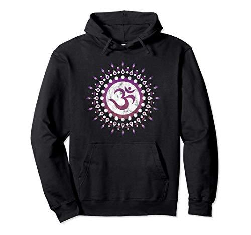 Mantra OM, sol, símbolo, mandala, flor, Yoga, Namaste, amor Sudadera con Capucha