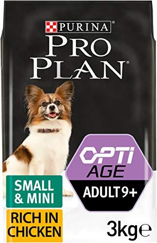 PRO PLAN 9+ Senior - Cibo secco per cani piccolo e piccolo, 3 kg