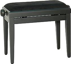 Steinbach Klavierbank höhenverstellbar in schwarz matt Hebemechanik wechselbarer Sitzbezug. Die Sitzauflage ist nach dem Kauf wählbar.