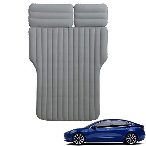 BASENOR Tesla Auto Aufblasbare Luftmatratze Tragbares Camping Bettkissen für Tesla Model 3 Model Y Model S Model X Zubehör Gen 2