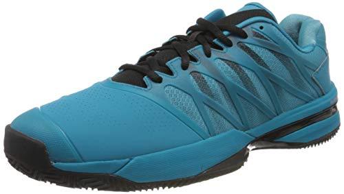 Dunlop Herren Ultrashot 2 HB Sneaker, Algiers Blue/Black/Soft Neon Orange, 42 EU