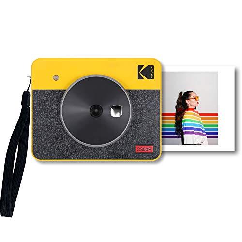 コダック(Kodak)Mini Shot 3 レトロカメラ ポータブル インスタントカメラ&フォトプリンター 2 in 1プリンター &スマホプリンター&ミニプリンター&チェキプリンター&モバイルプリンターiOS Android対応 Bluetooth接続 実物の写真(3x3インチ 7.6x7.6cm)4Passテクノロジー