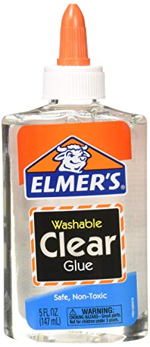 Elmer's E305  Washable School Glue, 5 oz Bottle, 4 Pack, Clear