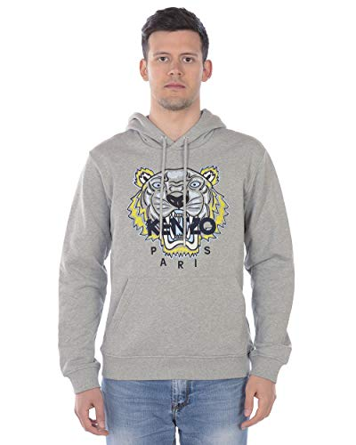 Kenzo - Sweatshirt Man 4XA5SW415 4XA 5SW415 GRAU Sweatshirt Tiger Hoodie L