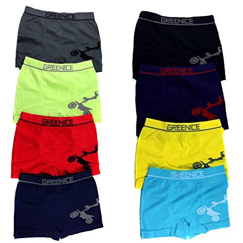 HighClassStyle Premium Boxershorts 6er Pack - Hochwertige Kinder Unterhosen - Optimaler Mikrofaser Shorts für Jungen - Farbenvielfalt - Größe 110-122 (6-8) - A.4361