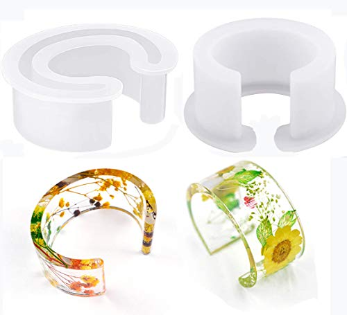 C Form Silikonform Armreif Schmuck Silikon Armband Form Klar Runde Armband Harz für Armband Ringe Schmuck DIY Basteln