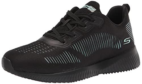 Skechers Zapatillas deportivas para mujer Bobs Squad-Summer, negro (Negro/Azul), 38 EU