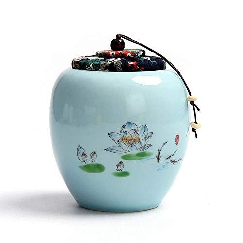 Alqn Cremación Entierro primitivo Ceniza Entierro de ceniza Cerámica primigenia Recuerdo de cerámica hecho a mano primigenio,Azul