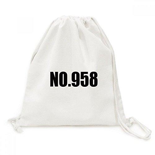 DIYthinker Viajes Nombre Número de la Suerte No.958 de la Lona del morral del Lazo Bolsas de la Compra
