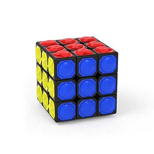 LEDM Speed Cube, Rubiks Cube 3X3x3 3D Estéreo en Relieve Braille Fingerprint Kids Puzzle