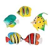Regalo 5 piezas acuarios artificiales plantas de pecera para decoración de acuarios (Color : Default)