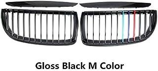 Auto-onderdelen 4PC Auto Matt Gloss Black Front Nier Double Slat Grille Set Compatibel met BMW E90 E91 2005 2006 2007 2008...