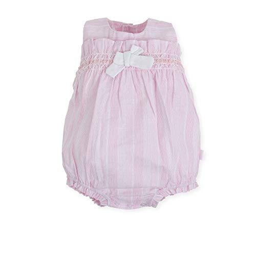 Tutto Piccolo 6385S19 Ropa para Bebé Niño o Niña Ranita Mono Peto Tricot de Algodón (Tallas de 0 a 24 Meses), Color Azul Celeste o Rosa