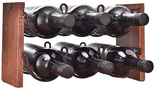 HJXSXHZ366 Estantería de Vino Estante del Vino encimera Estante del Vino 6 Botellas Capacidad apilable Vino Estante del Vino Organizador Estante for encimera Gabinete Bodega Estante de Vino pequeño