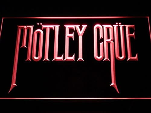 Motley Crue NEW before selling ☆ Band Rock Bar LED Neon Max 56% OFF Light Cave Sign Man C112-R