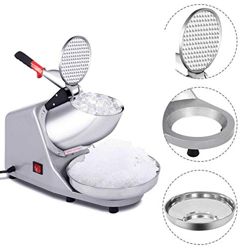 Find Discount Manoch Tabletop Electric Shaved Ice Crusher Shaver Machine Snow Cone Maker Icee 143 Lb...
