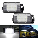Paision 18SMD LED License Plate Light Assembly Compatible with Nissan 370Z 350Z GTR Versa Cube Leaf & Infiniti G37 G35 G25 Q40 Q60 Xenon White (Pack of 2PCS)