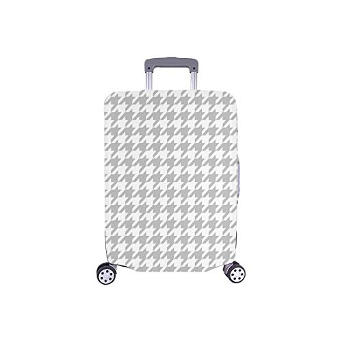 InterestPrint Houndstooth Checkered Travel Luggage Cover Suitcase Baggage Protector Fits 26'-28' Luggage