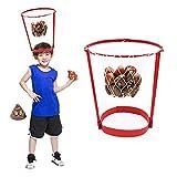winnerruby Head Hoop Basketball Party Game para niños y Adultos Hilarante Crazy Funny Poop Emoji Throw Games Lanzar Juguetes de Caca para Padres e Hijos Deportes Fiesta Entretenimiento
