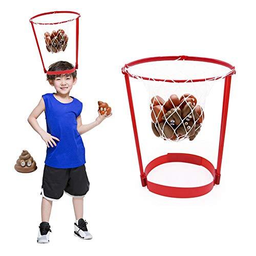 Head-Hoop-Basketball-Partyspiel für Kinder und Erwachsene Unglaublich witzig lustig Poop Emoji-Wurfspiele Werfen Poop-Spielzeug für Eltern-Kind-Sport-Party-Unterhaltung