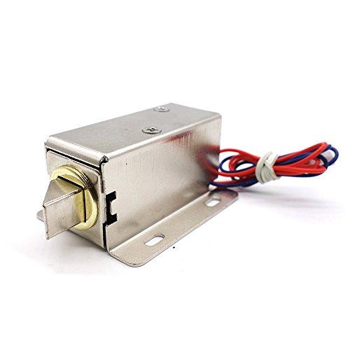Yolando Elektroschloss, Elektronisches Schloss 12V Mini Montage Solenoid Elektrisches Schloss für Schrank Tür Schublade