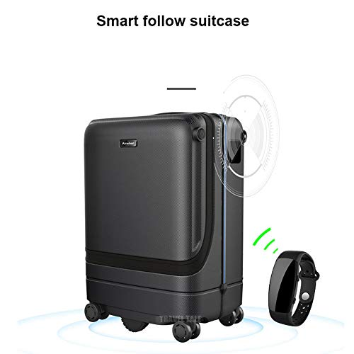 Smart Bagage Auto-follow 20 inch Carry-on Koffer, Smart aluminium bagagerek, Hands-free, Reiskoffer ABS Handbagage met TSA Lock