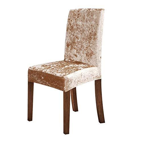 LIANYG Stuhlhussen 2/4/6 Pcs Dining Chair Abdeckung Spandex Elastic Stuhlbezug Esszimmer-Stuhl-Fall for Küche Hochzeitsbankett 853 (Color : Cream, Specification : 4pcs)