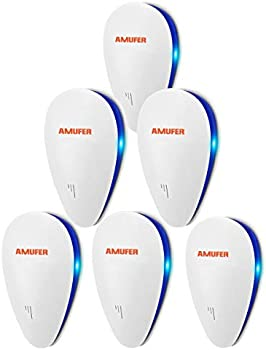 6-Pack Amufer Ultrasonic Pest Repeller for Children and Pets Safe