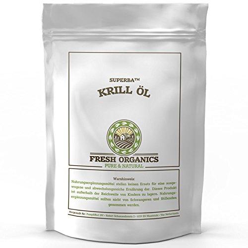 Original SUPERBA KRILL ÖL | 90 Kapseln á 500mg | KRILLÖL | Natürliche Antioxidant | Astaxanthin | Reich an Omega Fettsäuren | Hoher Gehalt an DHA + EPA | PREMIUM QUALITÄT