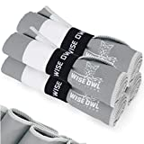 Wise Owl Outfitters Yoga Towels - 4 Pack Microfiber, Quick Dry, Hand, Face and Body Sweat Towels for Gym, Sports, Workout & Travel, Grey