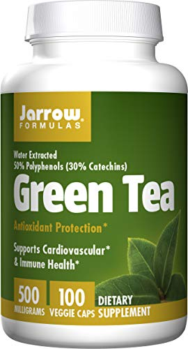 Jarrow Formulas Green Tea, Supports Cardiovascular & Immune Health, 500 mg, 100 Caps
