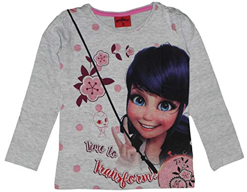 Miraculous Ladybug - Camiseta de algodón para niña Marfil Crema 8 años
