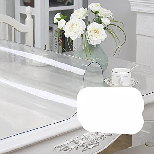 Mantel Negro, manteles, Transparente, Impermeable, para Mesa de Cocina, Cubierta Protectora para Mesa, a Prueba de Aceite, Vidrio, paño Suave, Mantel 1.0-Transparente, 90x200cm