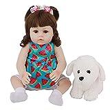 chisatowww Silikon Reborn Puppe, 18 '' 48 cm Beschwichtigen Sie die Puppe Schlafende Puppe Augen öffnen Weicher Kleber Kind Erwachsene Spielzeug Geschenk