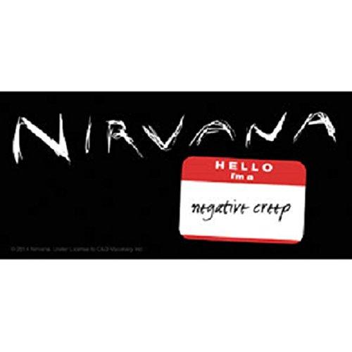 Nirvana Aufkleber Sticker Smiley Bands Musik Rock Grunge Kurt Cobain Rock'n'Roll Wings Flügel