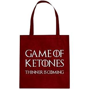 Tote Game of Ketones Large Red Canvas Bag:Comoparardefumar